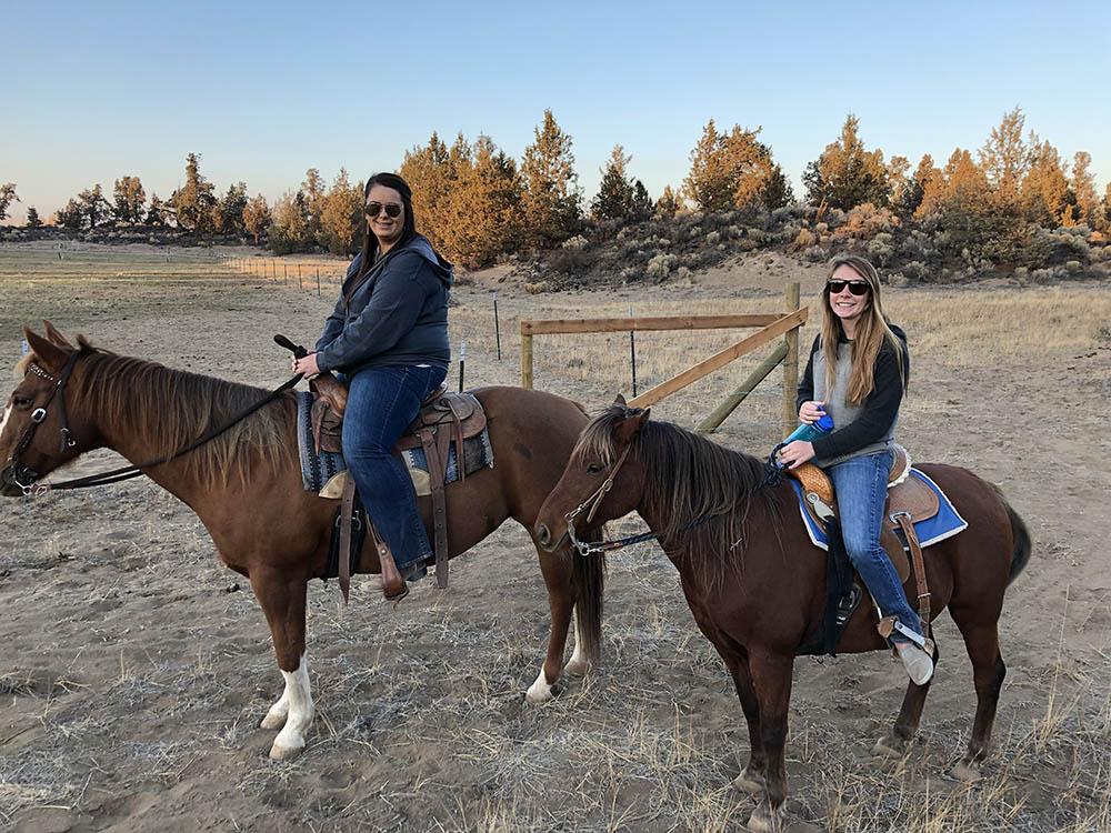 mommy daughter horseback ride